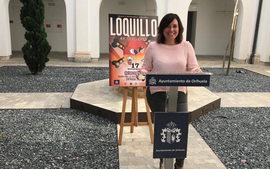 Juventud trae a Loquillo a Orihuela para cerrar el Otoño Hernandiano con un gran concierto gratuito en Los Huertos