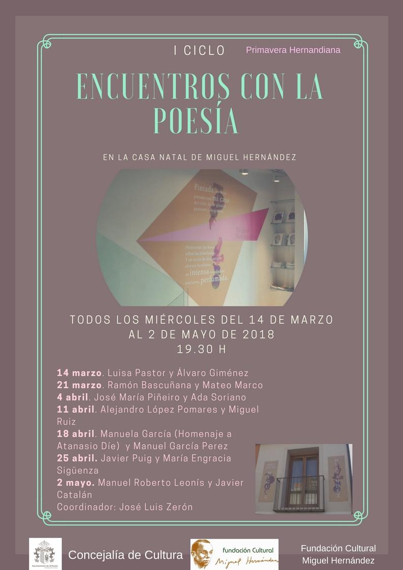 """I Ciclo """"Encuentros con la poesía"""""""