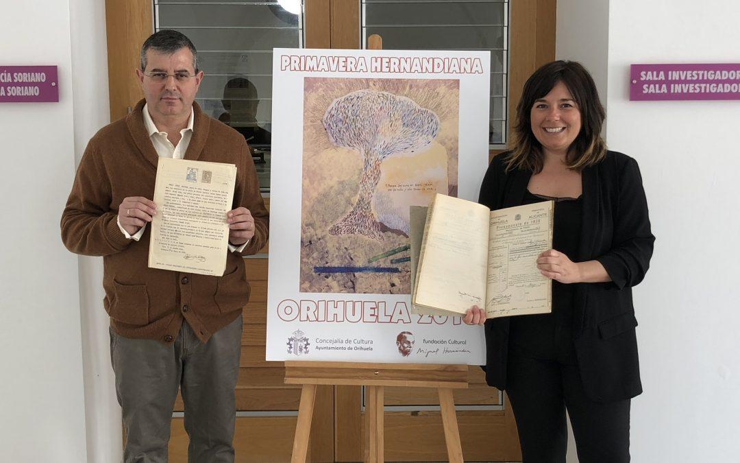 Orihuela recuerda a su poeta en el 76 aniversario de su muerte con más de medio centenar de actos en la Primavera Hernandiana