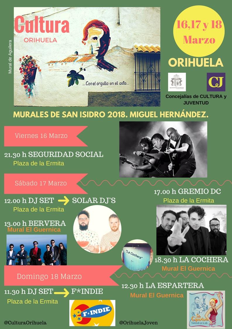 Conciertos Murales de San Isidro Orihuela 2018