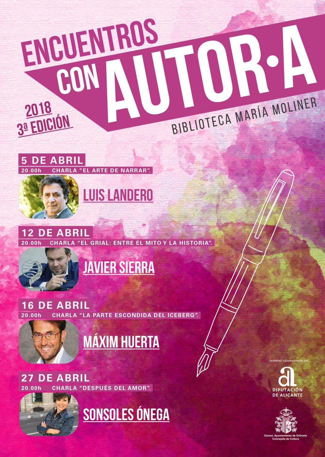 Encuentros con Autor·A Orihuela 2018