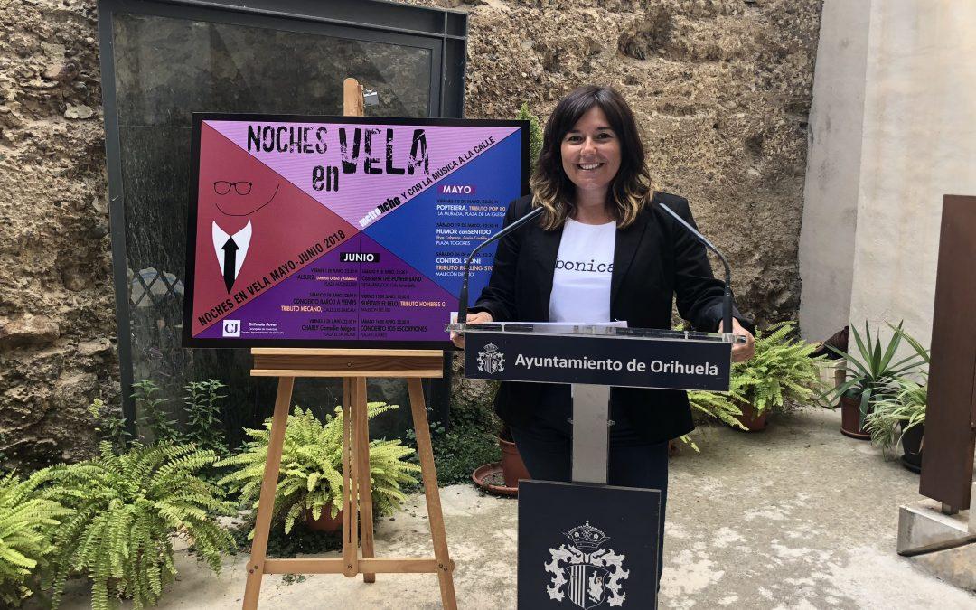 Juventud y Cultura sacan a la calle humor y música para animar las noches de los fines de semana con una nueva edición de Noches en Vela