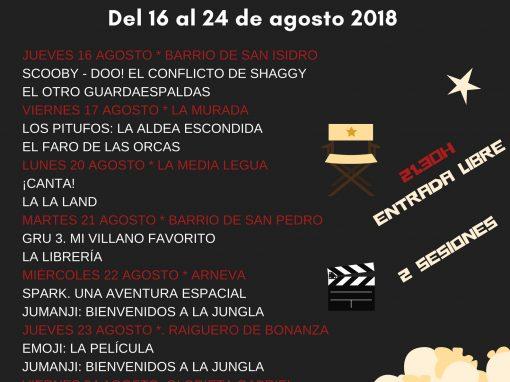 Cine de verano 2018 en Orihuela