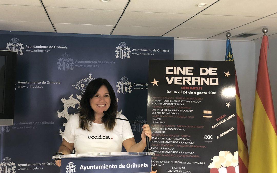 Juventud programa 14 películas en Orihuela y pedanías para disfrutar de una nueva edición del Cine de Verano