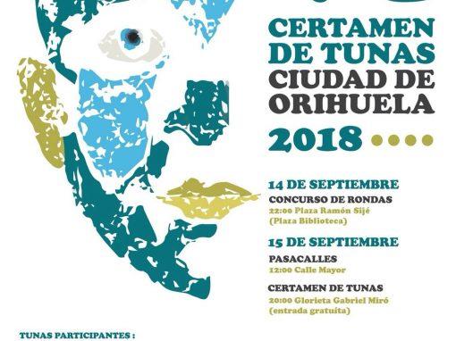 VI Certamen de Tunas Ciudad de Orihuela 2018