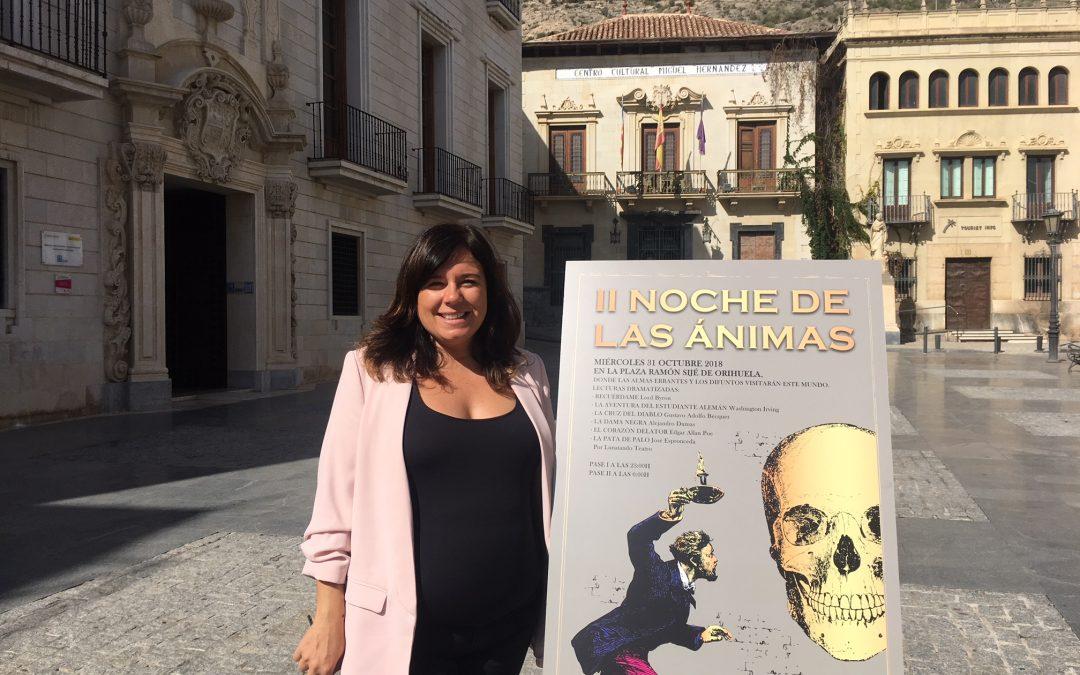 Cultura trae los relatos más aterradores del Romanticismo a la plaza de Ramón Sijé para celebrar la II Noche de las Ánimas en Orihuela