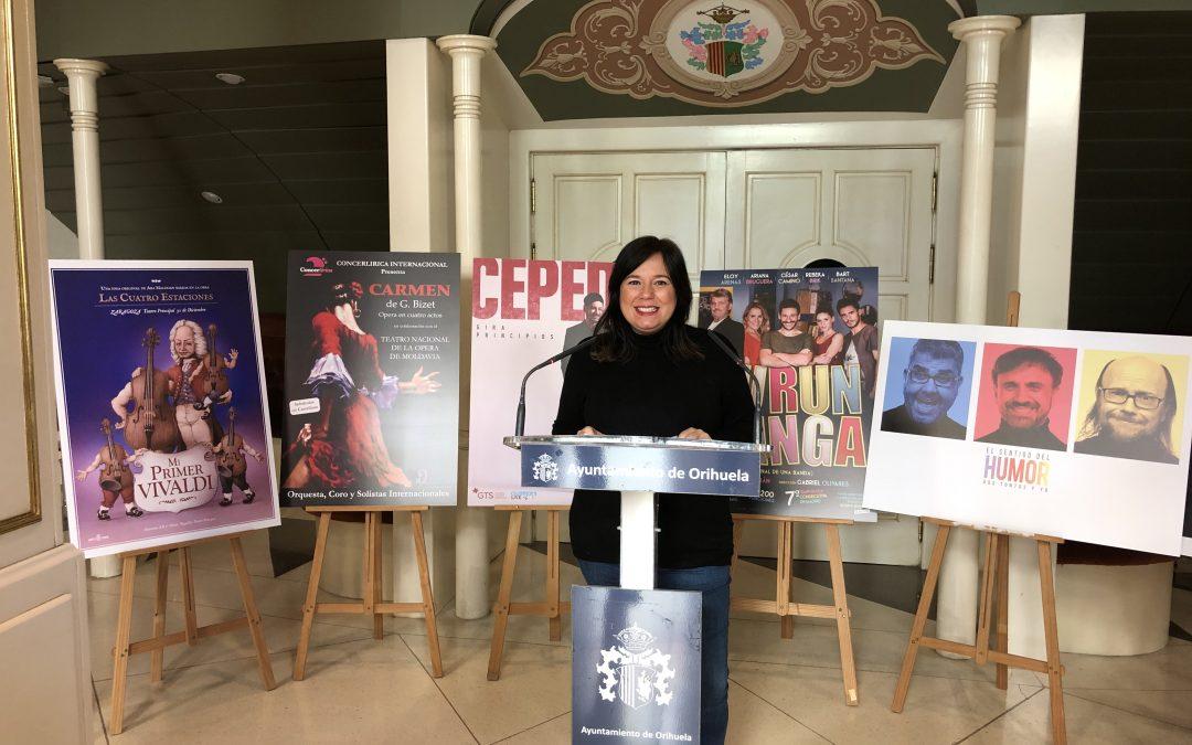 Cultura presenta la programación del Teatro Circo para el primer trimestre de 2019