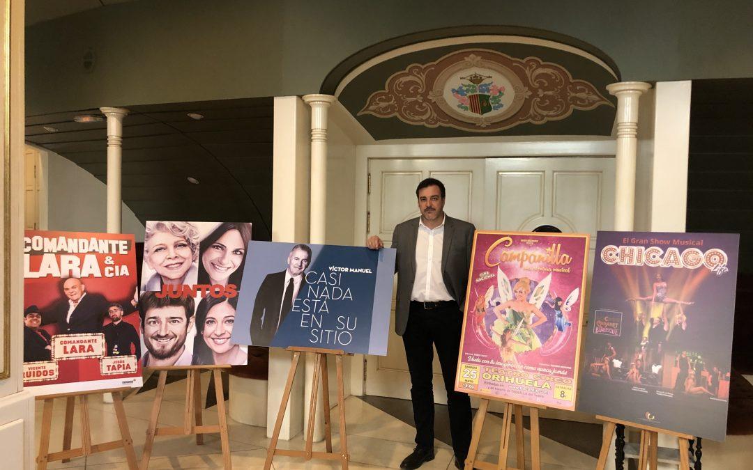 Víctor Manuel, el musical Chicago Life y Santiago Segura, Flo y Mota en la nueva programación del Teatro Circo