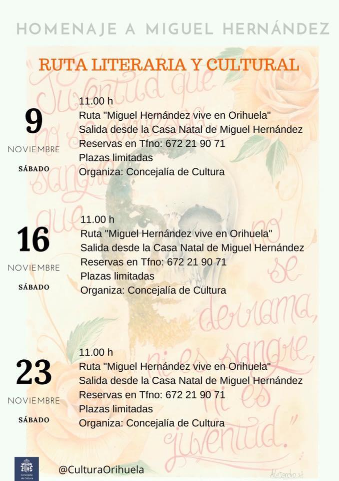Ruta Literaria y Cultural Orihuela